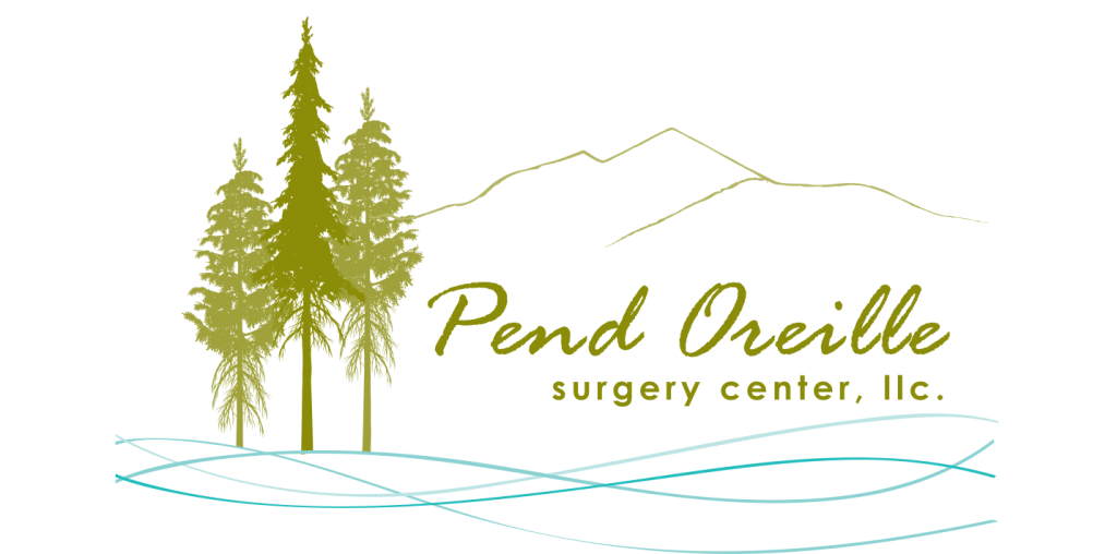 Logo for Pend Oreille Surgery Center, a medical surgery clinic associated with Woodlands Family Medicine, Part of the North Idaho Medical Village